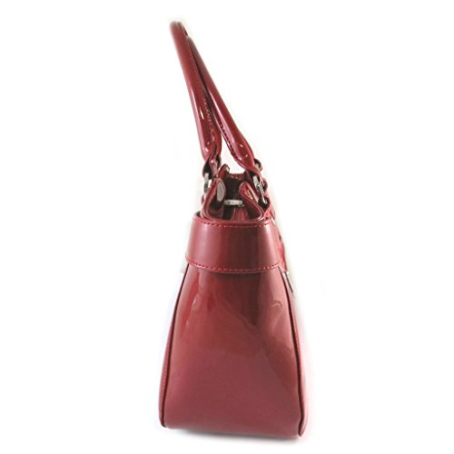 Borsa in pelle 'Jacques Esterel'rosso polish - 43x24x15 cm.
