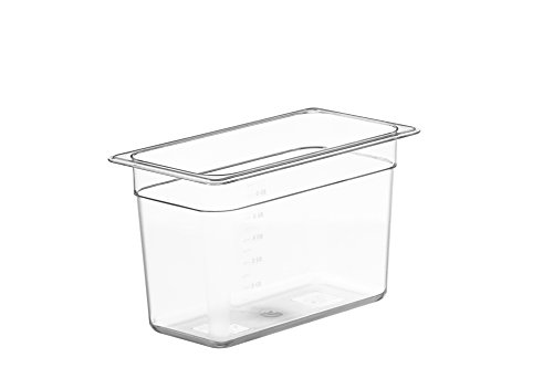 LIPAVI Sous Vide Container Model C5 – 1.75 Gallon, 12.7 X 7 Inch, Height 8 Inch. Strong, Clear Polycarbonate. Separately sold rack and lids for virtually any Sous Vide machine.