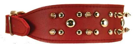 OmniPet Spiked & Studded Latigo Leather Pet Collar, 2
