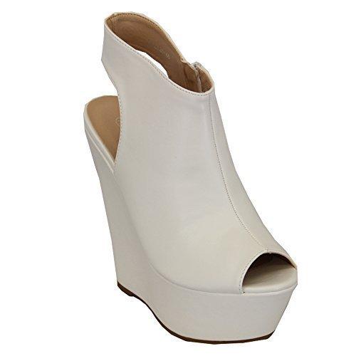 Femmes Talons 11006 Bout Chaussures Ouvert Plateforme Découpe Sandales B06XGK5N9V Chaussures À Talons Hauts Pour Femmes Été Neuf Blanc - K1z82646 2f3a7c6 - therethere.space