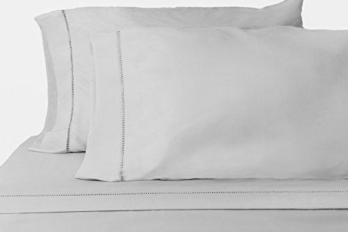 Chic'y Luxe Grace - Premium Microfiber Sheet Set - Super Soft, Hypoallergenic, Wrinkle Resistant, Fade Resistant, Deep Pocket, Embellished – 4 piece (Queen, Silver)