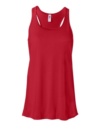 picture of Bella B8800 3.7 oz. Ladies Maxine Flowy Tank - RED - Large