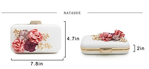 Clutches Clutch Black Pearl Tanling Ladies Chain With Royal Blue Bag Women Party Day Purse Wedding Evening Flower IwqTaFqx7