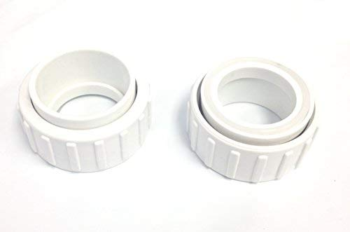Southeastern 2 Pack Salt Cell 2-Inch Union, Nut, and Tailpiece Replacement for Hayward Chlorine Generators GLX-Cell-Union