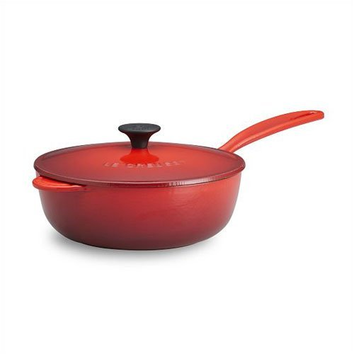 Le Creuset Enameled Cast-Iron 3-Quart Saucier Pan, Cherry