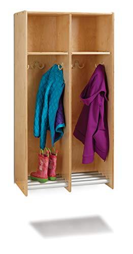 Jonti-Craft 9133JC 2 Section Hanging Locker - Without Tubs ()