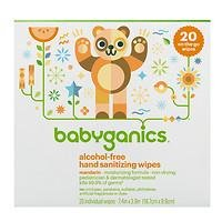Babyganics Alcohol-Free Hand Sanitizing Wipes, Mandarin, On-The-Go 20-Count Reseal Pack, Packaging May Vary