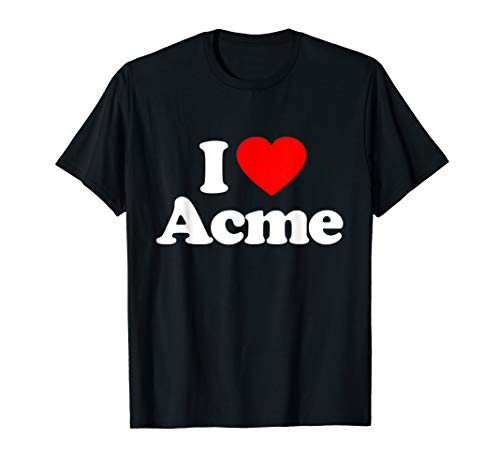 (Love Heart Acme Funny Top T-Shirt)