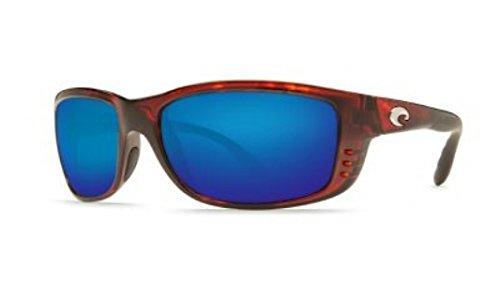 Costa Del Mar Zane Sunglasses, Tortoise, Blue Mirror 400G - Del 400g Costa Mar
