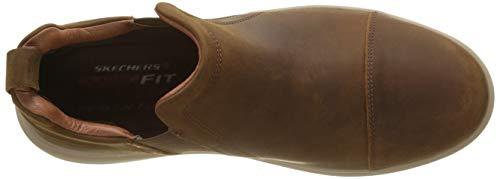 Skechers Cdb Dark Orego Brown Folten para Marrón Zapatillas Hombre qpr6xRZwq1
