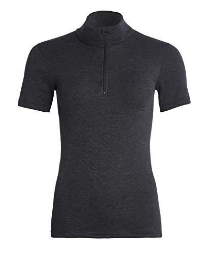 con-ta Thermo Kurzarm Shirt mit Zipper, Damenshirt mit Stehkragen, aus natürlicher Baumwolle, wärmeisolierende Unterwäsche, in versch. Farben, Größen: 36-50