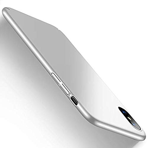 Case Compatible iPhone Xs Max Hard PC Protective Scratchproof Cover for iPhone XR (Silver, iPhone Xs)