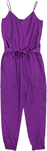 Lauren Ralph Lauren Women's Charmeuse Sleeveless Jumpsuit Size 10 Purple - Charmeuse Jumpsuit