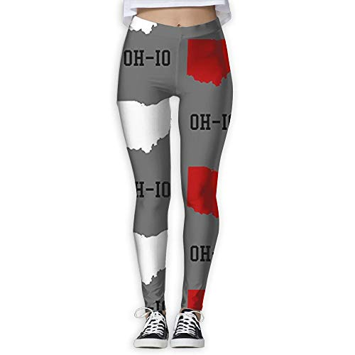 Ohio State Workout Pants - Oh-Io State Gray High Waist Out Pocket Yoga Pants Tummy Control Workout Running Stretch Yoga Leggings