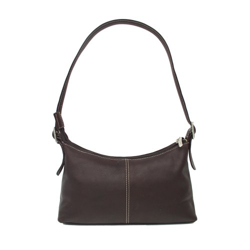 Piel Leather Shoulder Mini, Chocolate, One Size