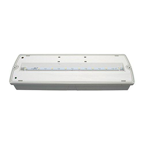 Applique la fuite Lampadaire LED 2,2/W protection IP 40 sortie de secours durgence LED lampe de caract/ères de sauvetage 3/H Dur/ée//volont/é int/égr/é