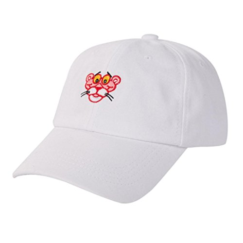 (Womail Women Tiger Sports Hip Hop Baseball Cap Adjustable Hat For Boy (White))