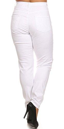 7e629682153f7 Monotiques Women s Plus Size Distressed Stretch Jeans - Import It All