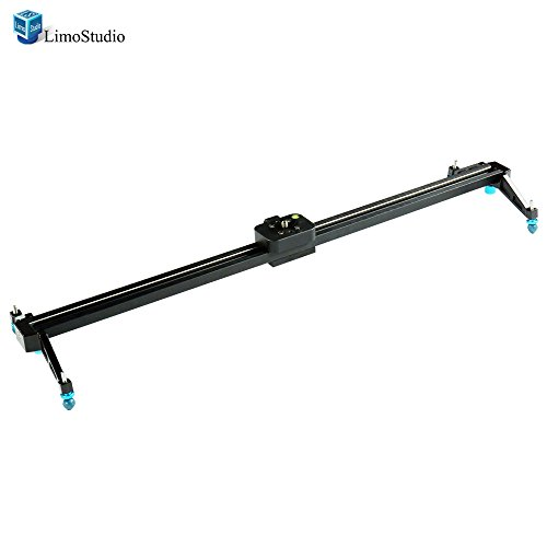 LimoStudio 32 Inch Video Stabilization System DSLR Camera Compact Dolly Track Slider, AGG1566 by LimoStudio