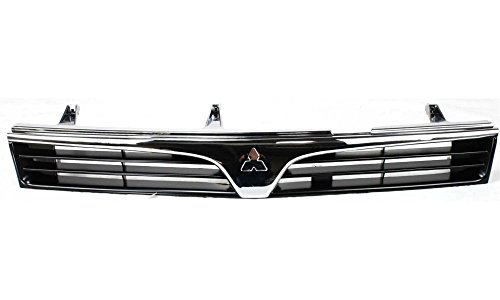Mitsubishi Mirage Auto Parts (Evan-Fischer EVA17772028633 Grille for Mitsubishi Mirage 97-02 ABS Plastic Chrome Shell/Painted-Black Insert Sedan Replaces Partslink# MI1200214)