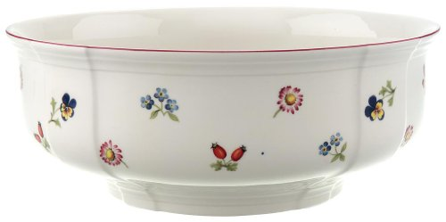 (Petite Fleur Round Vegetable Bowl by Villeroy & Boch - Premium Porcelain - Made in Germany - Dishwasher and Microwave Safe - 9.75 Inches)