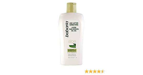 Babaria Loción Post-Solar Aloe Vera - 400 ml: Amazon.es: Belleza