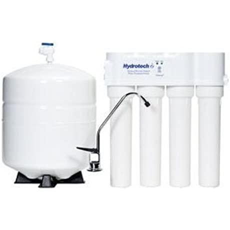 HYDROTECH 4VTFC25G PB 4 Vessel 25 GPD Reverse Osmosis System With Push Button Monitor
