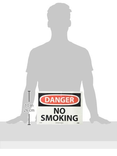NMC GD79PB OSHA Sign NO SMOKING Glow Polyester LegendDANGER Black//Pink on Pale goldenrod 14 Length x 10 Height