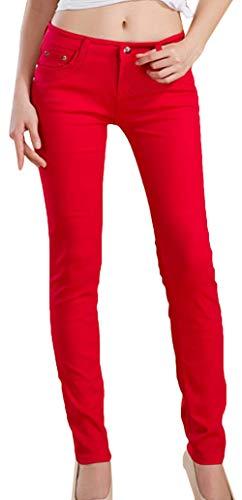 lasticit Slim Crayon Dcontracts Pantalon Leggings Pantalon Rouge Style Femme Coren Snone Femmes Maigre Automne Pantalon Jeans Long Pantalons Tendance Pantalons Mince Jean q8xRwZ6HW