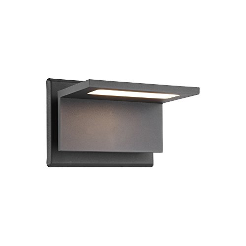 tdoor Lighting Surface Mounting LED Wall Lamp, Painted Grey Color Aluminium Finished 3000K (Finished Wall Lamp)