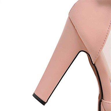 LvYuan Mujer-Tacón Robusto-Otro-Sandalias-Boda Vestido Informal-PU-Negro Rosa Blanco Beige Black