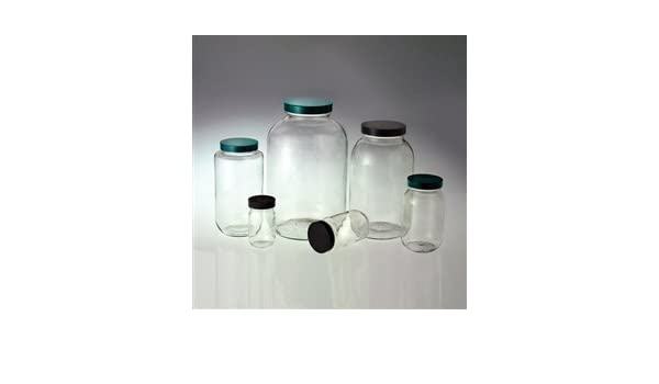 Boca ancha botellas de vidrio, 4 litros (128oz) vinilo con tapa, funda/4: Amazon.es: Amazon.es