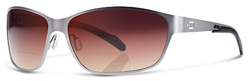 AV1 Bifocal Reading Sunglasses | Sun Readers Designed for Aviators and Casual Use With Wrap-Around Fit | Made from Highest Quality Materials (Stainless Matted Frame / Bronze/Gradient Lens, - Sunglasses Boulder