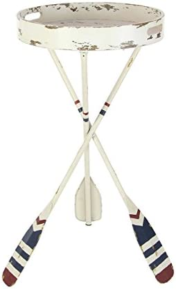 Deco 79 Metal Oar Tea 16″ W