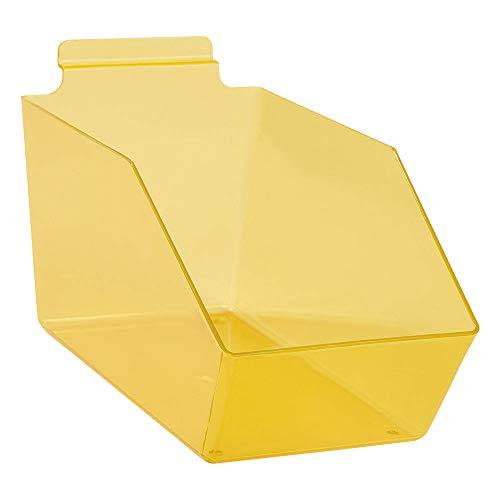 "Buy All Store Dump Bins for Slatwall Yellow Set of 10 Plastic Slat Wall Display 6"" x 11 ½"" x 5 -  buyallstore"