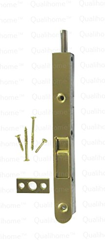 (Premium Quality Door Flush Bolt with Strike and Screws (Brass))