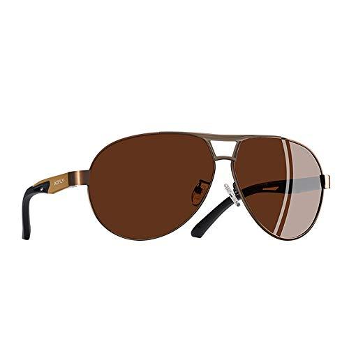 Brown De Gafas De Clásico De Verano De Polarizadas Sol Hombres Gafas De Gafas Gafas Gafas Los De Sol Aluminio Piloto De Sol Piloto De Magnesio Protección FKSW qwY1tFTc