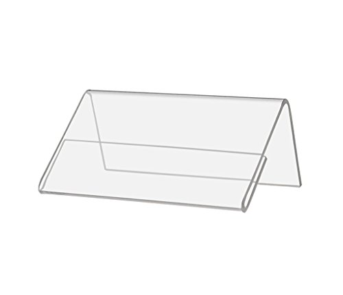 Marketing Holders Slant Back Table Tent Price Tag Name Plate Deli Tag Signage Holder (24, 2.5'' w x 1.5'' h) by Marketing Holders