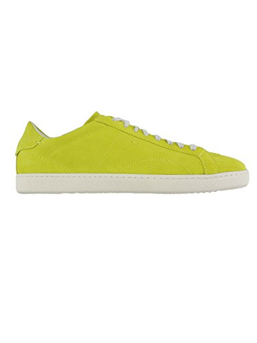 Uomo Camoscio Santoni Lime Sneakers Scarpe Stringate 13807b qW6wfz