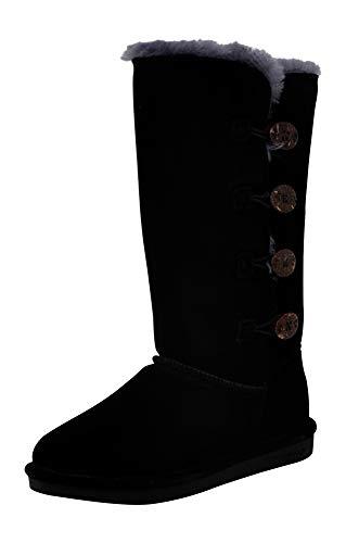 Bearpaw Women's Lori Tall Boot, Black/Grey, 9