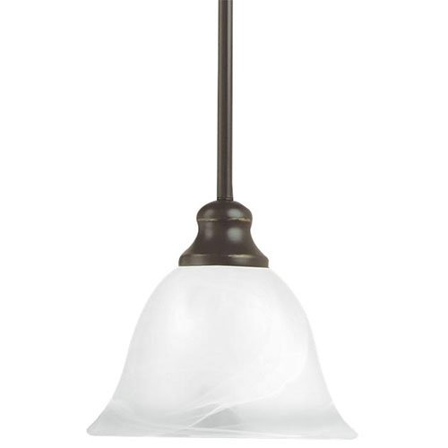 Weathered Iron Finish Pendants - Sea Gull Lighting 6501-07 Six-Light Manor House Pendant, Clear Seeded Glass, Weathered Iron Finish