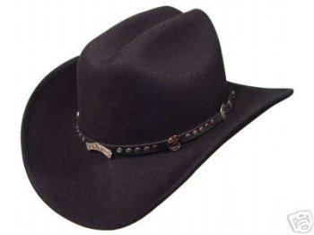 Jack Daniels Men's Daniel's Studded Concho Wool Felt Crushable Cowboy Hat Black X-Large (Studded Wool Hat)