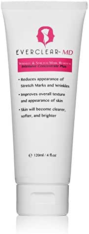 #1 BEST SELLING MOST POWERFUL PEPTIDE ANTI-WRINKLE, ANTI-STRETCH MARK CREAM | LARGE Volume Size 4 oz / 120 ml | Erase wrinkles, diminish lines, Boost Collagen, Improve Skin Tone | EverClear LLC