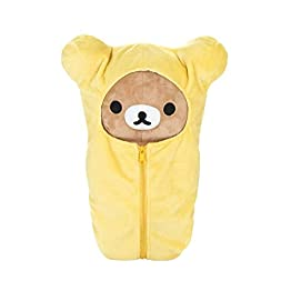 Rilakkuma Sleeping Bag Plush | Yellow - 15 Inch | San X Plushie 12