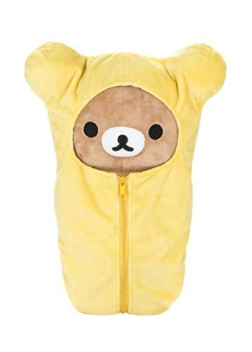 Rilakkuma Sleeping Bag Plush | Yellow - 15 Inch | San X Plushie 1