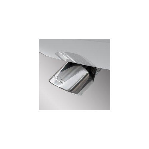 GM # 19156358 OE Exhaust Tip - Single Exhaust - Dual Wall - Angle Cut - Highly Polished with GMC Logo ()