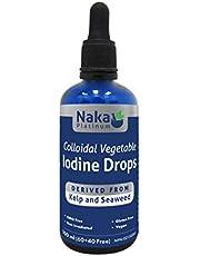 Naka Platinum Colloidal Vegetable IODINE Drops - 100 ml BONUS Size (60+40 Free)