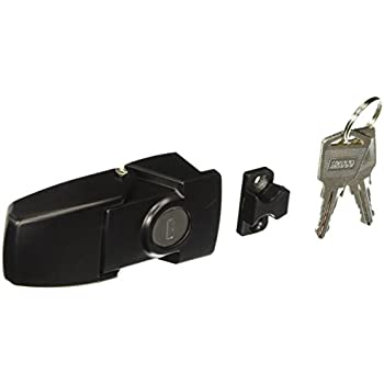 Cabinet Black Coated Metal Hasp Latch Toggle Lock w Two Keys DT