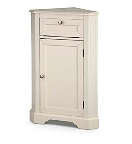 Weatherby Bathroom Corner Storage Cabinet (Cream)