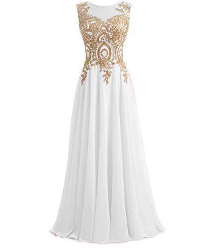 ine Long Chiffon Women Formal Prom Evening Dresses Plus Size Ivory US 18W (Ivory Long Line Lace)